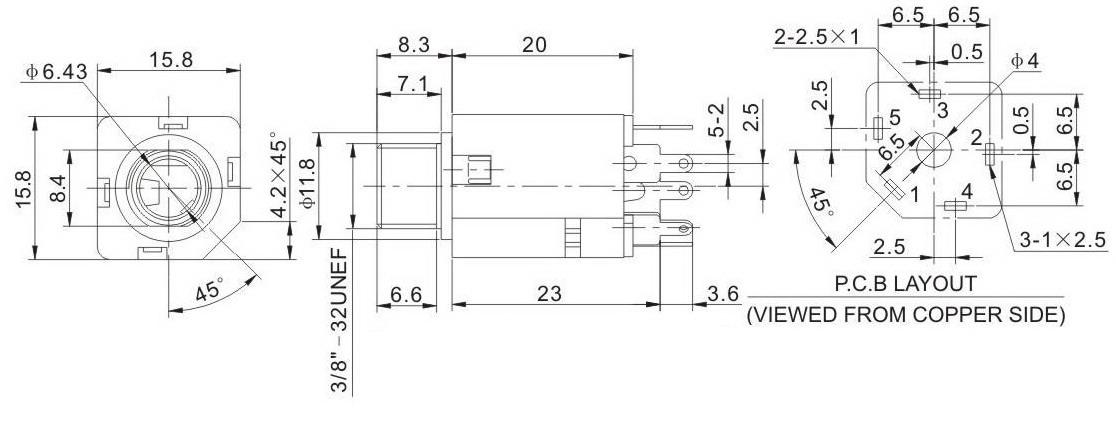 JP 612B D audio jack 1 4\