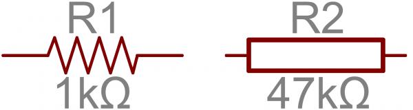 举个例子,这里是555定时器电路中的一些电阻