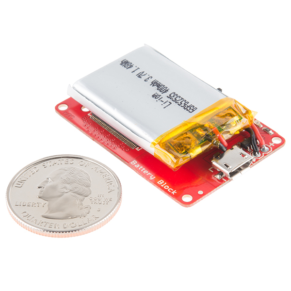 SparkFun Block for Intel® Edison - Battery