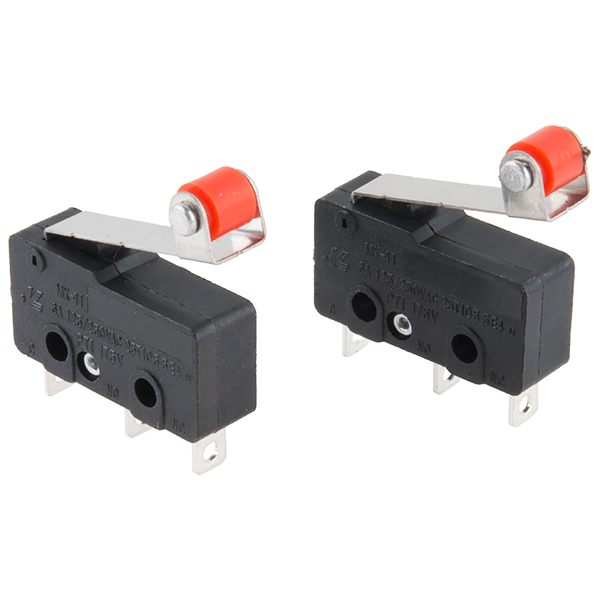 Mini Microswitch - SPDT (Roller Lever, 2-Pack)