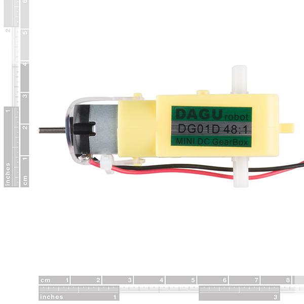 Hobby Gearmotor - 200 RPM (Pair)