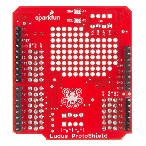 SparkFun Ludus Protoshield Bottom