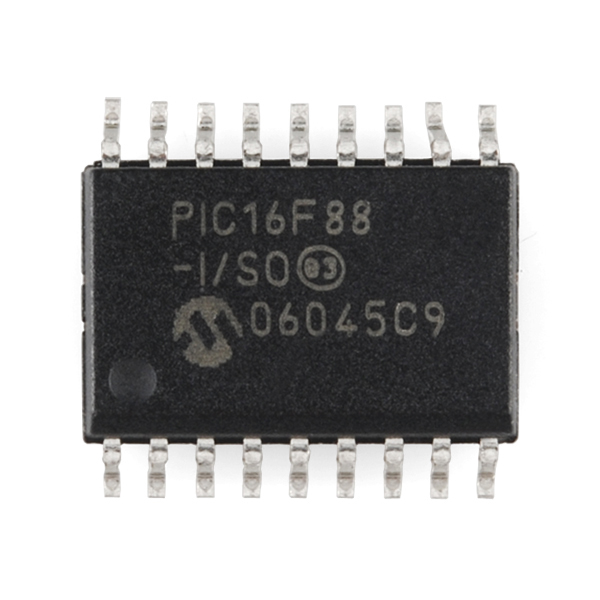 PIC 18 Pin 8MHz - PIC16F88-I/SO