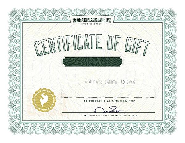 SparkFun Gift Certificate