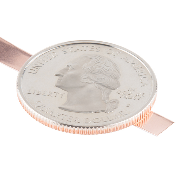 Copper Tape on Quarter