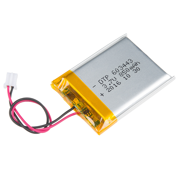 Lithium Ion Battery >> Lithium Ion Battery 850mah Prt 13854 Sparkfun Electronics