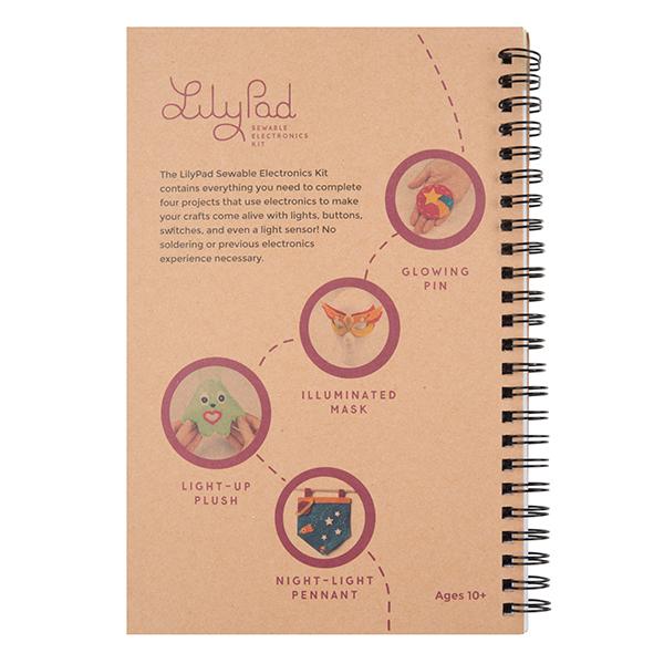 LilyPad Sewable Electronics Kit Guidebook Back