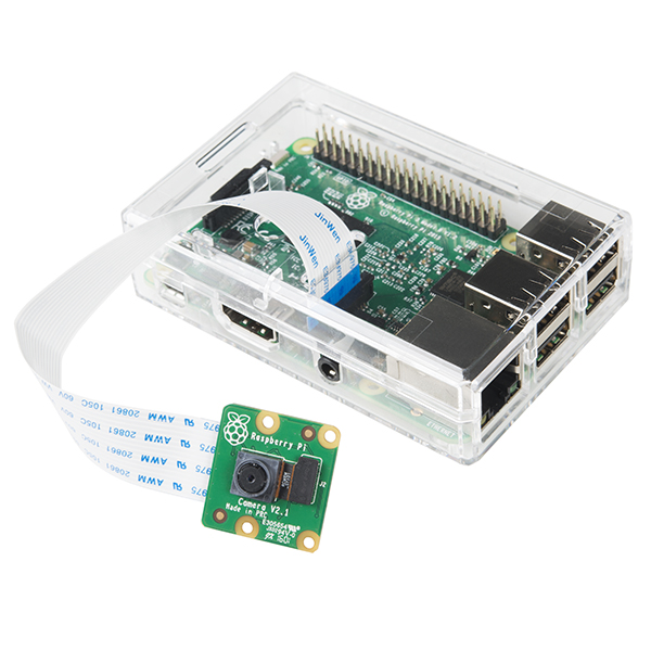 Raspberry Pi 3 + Camera Enclosure - Clear
