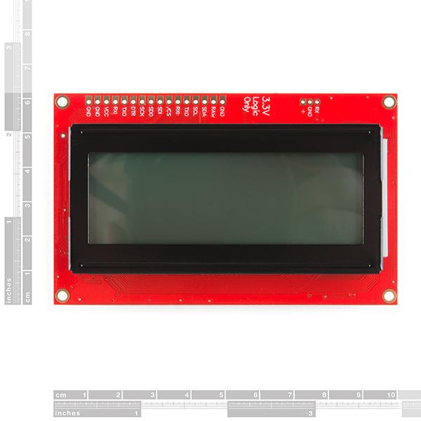SparkFun 20x4 SerLCD - Black on RGB 3.3V