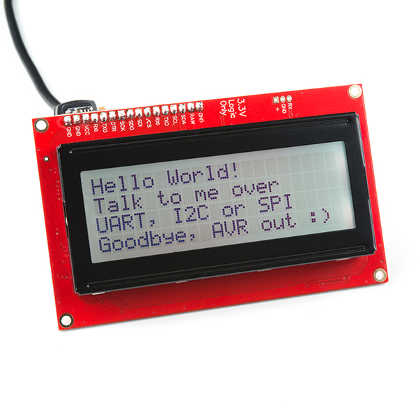 SparkFun 20x4 SerLCD - Black on RGB 3 3V