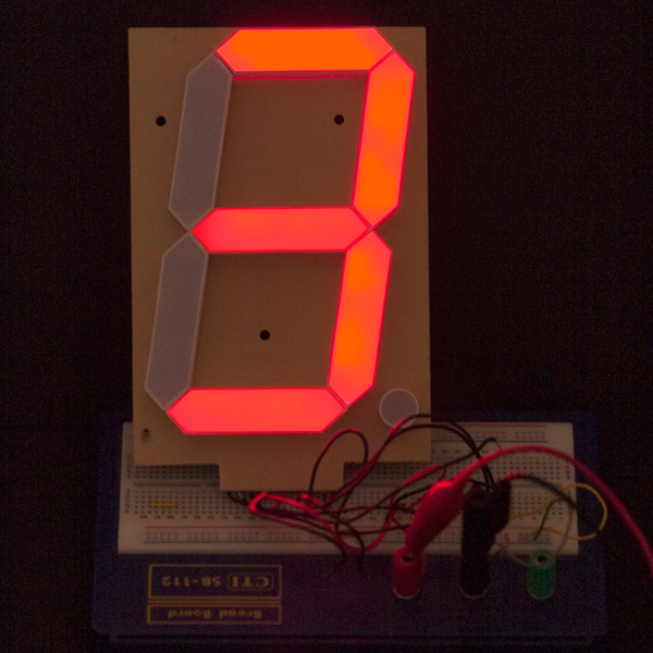 "7-Segment Display - 6.5"" (Red)"