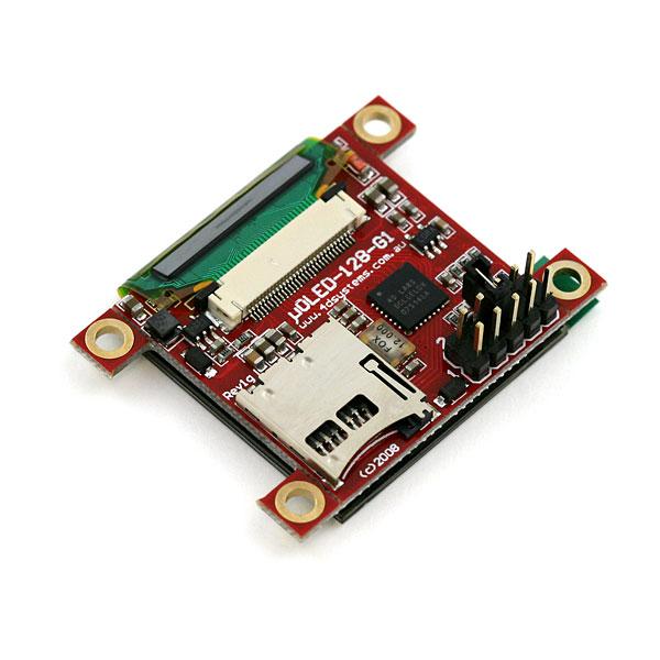"Serial Miniature OLED Module - 1.5"" (uOLED-128-G1GFX)"