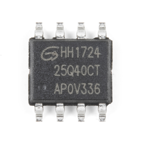 Serial Flash Memory - GD25Q40CTIGR (4Mb, 120MHz)