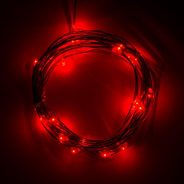 Fairy Lights Red 2 5m Prt 14503