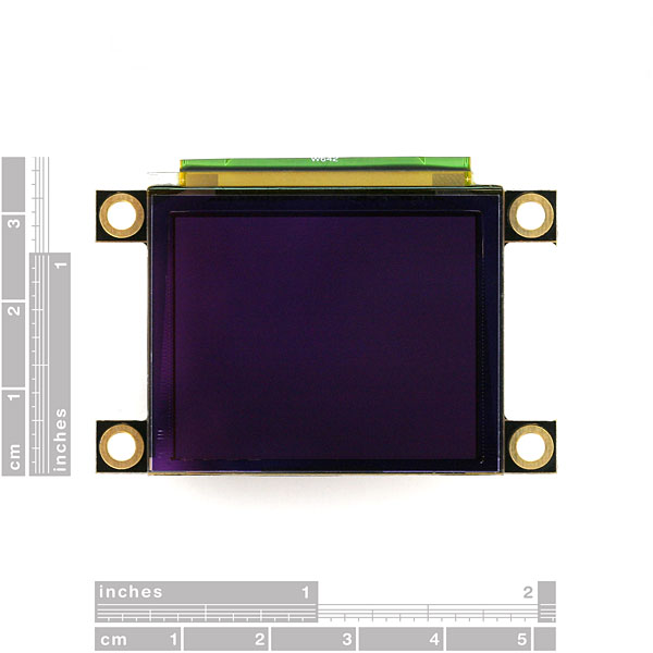 "Serial Miniature OLED Module - 1.7"" (uOLED-160-G1GFX)"