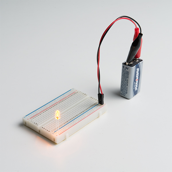 LED - Yellow with Resistor 5mm (25 pack)
