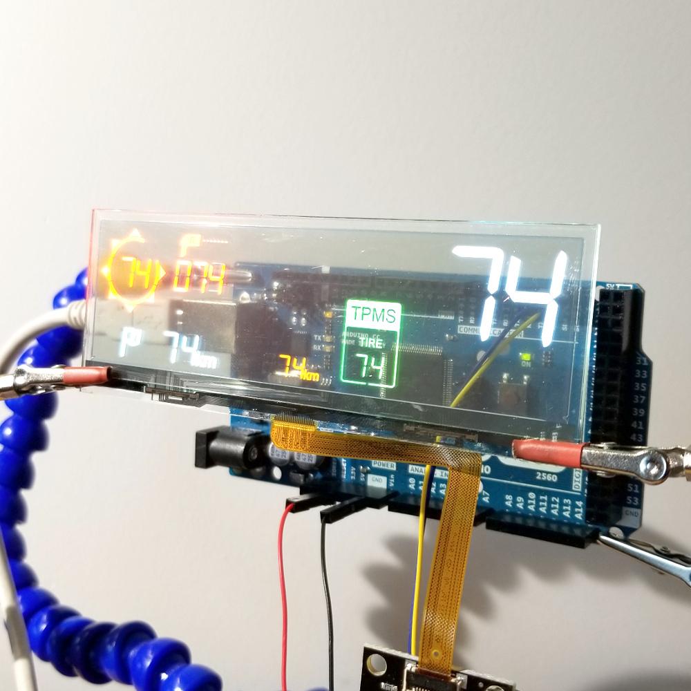 Qwiic Transparent OLED HUD