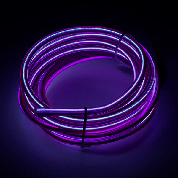 Bendable EL Wire - Purple 3m