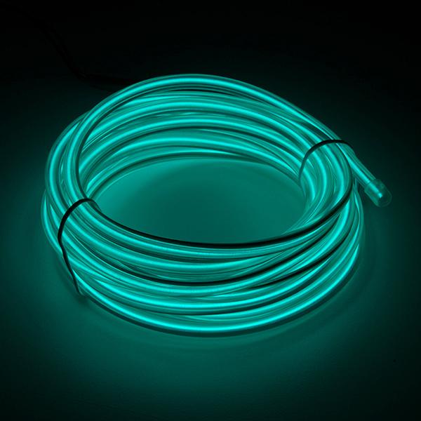 Bendable EL Wire - Blue-Green 3m - COM-14702 - SparkFun Electronics