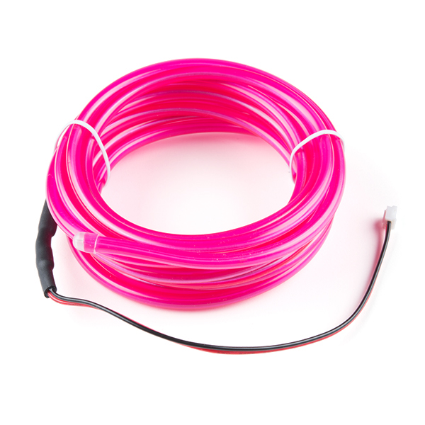 bendable el wire pink 3m com 14704 sparkfun electronics