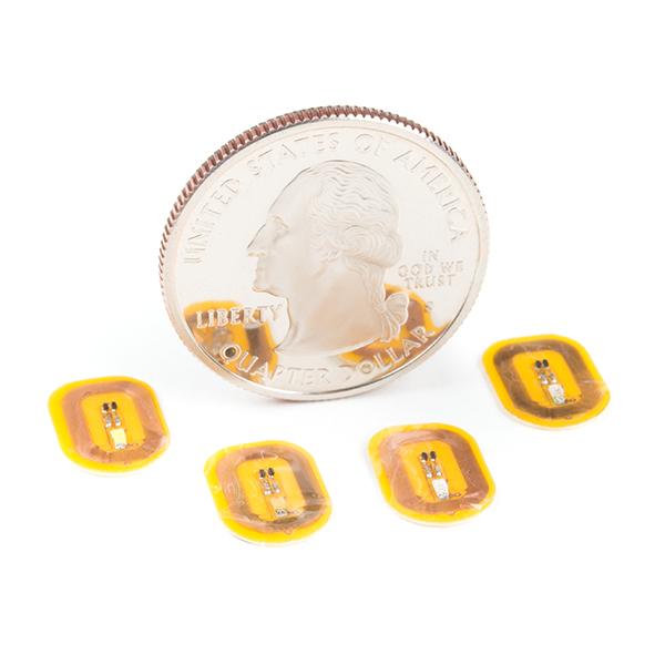 NFC LED Nail Sticker - White (5 Pack)