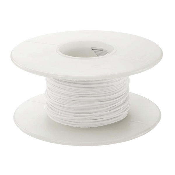 Wire Wrap Wire - White (Solid, 30AWG, 100ft)