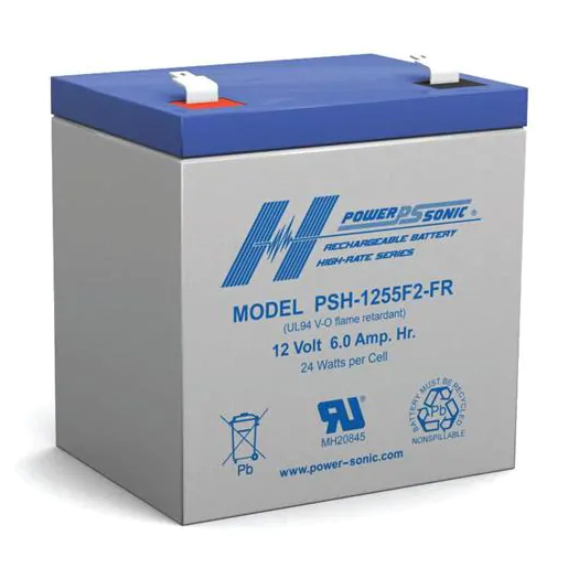 Power-Sonic 12V 6AH Sealed Lead Acid Battery