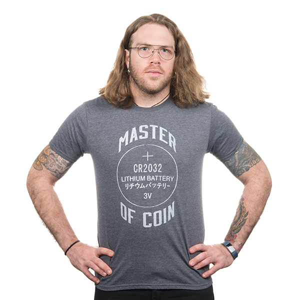 Master of Coin Shirt - XXL (Gray)