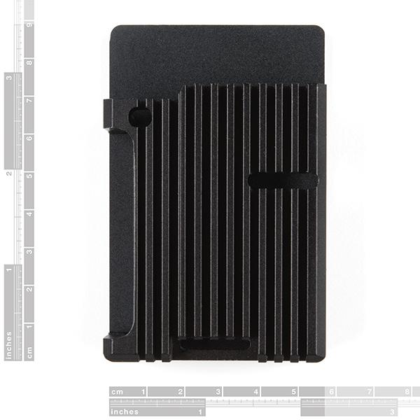 Aluminum Heatsink Case for Raspberry Pi 4 - Obsidian Black