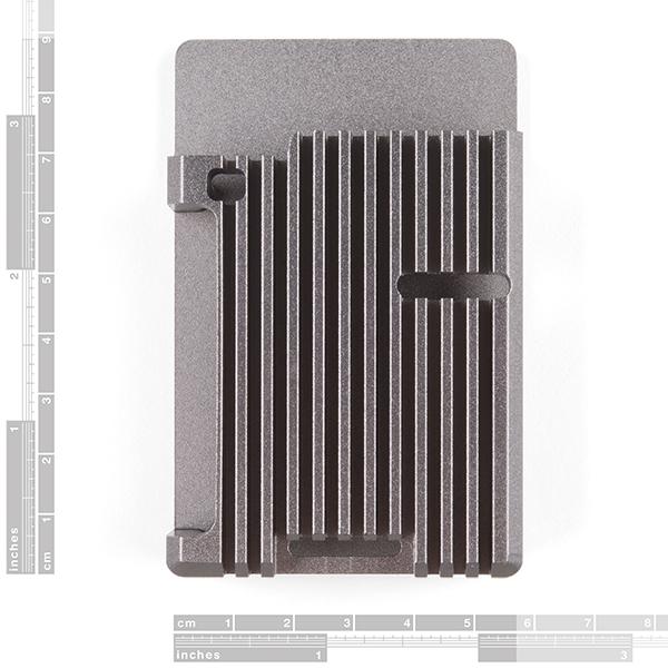 Aluminum Heatsink Case for Raspberry Pi 4 - Magnetite Grey
