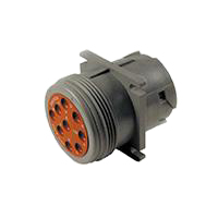 HD10 Series Housing for Male Terminals - 9 Cavities, Flange, Threaded Rear