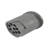 HD10 Series Housing for Male Terminals - 9 Cavities, In-Line, Threaded Rear, E seal