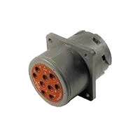HD10 Series Housing for Male Terminals - 9 Cavities, Flange, Non-threaded Rear