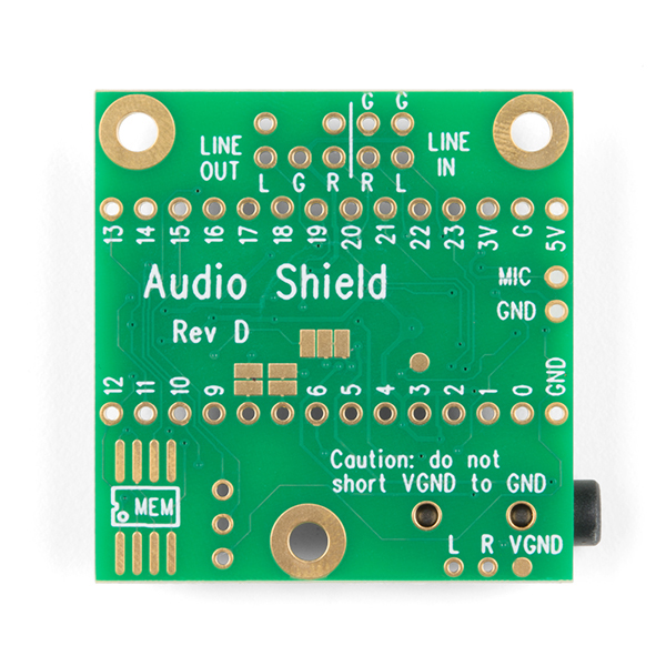Teensy 4 Audio Shield (Rev D)