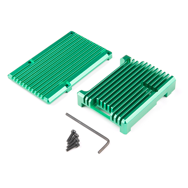 Aluminum Heatsink Case for Raspberry Pi 4 - Green
