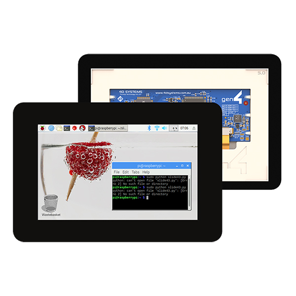 "5.0"" Gen4 Primary Display for the Raspberry Pi - Capacitive Touch"