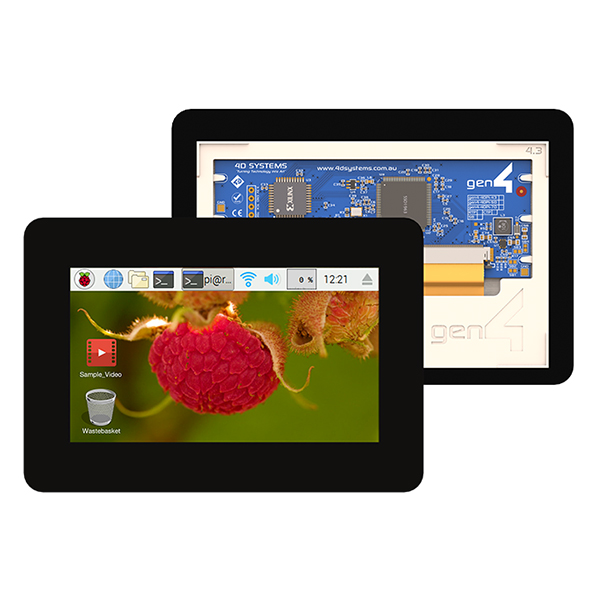 "4.3"" Gen4 Display for Raspberry Pi - Capacitive Touch"