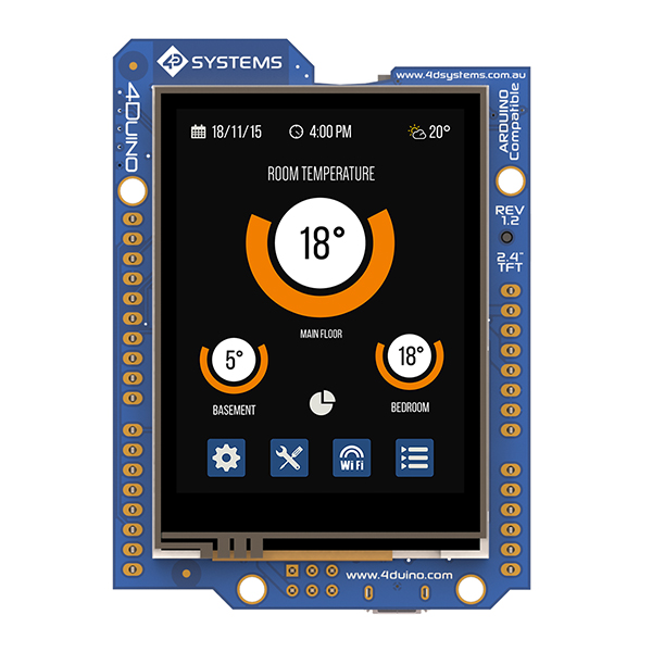 "4DUINO 2.4"" TFT LCD IoT Display"