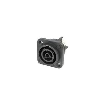 "Neutrik powerCON TRUE1 TOP Chassis Connector (Appliance Outlet Connector 1/4"" Flat Tab Terminals)"