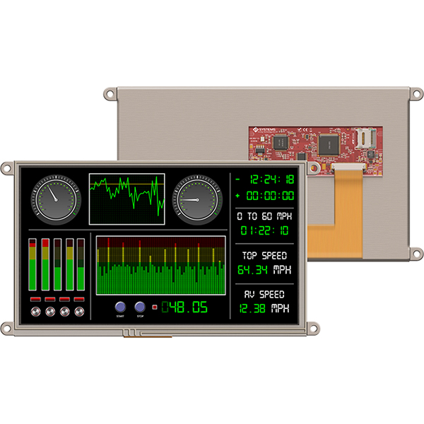 "9.0"" Display Module w/ Resistive Touch for Raspberry Pi"