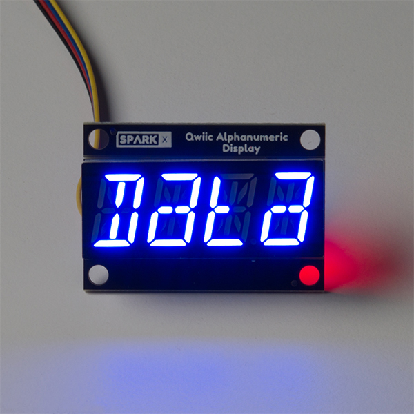 Qwiic Alphanumeric Display - Blue