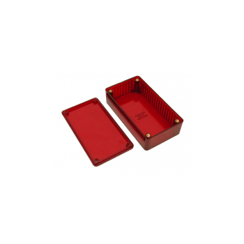 """Polycarbonate Case - 1.1 x 2.4 x 4.4"""" Red"""