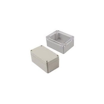 "Polycarbonate Case - 8.74 x 5.75 x 2.17"" Gray"