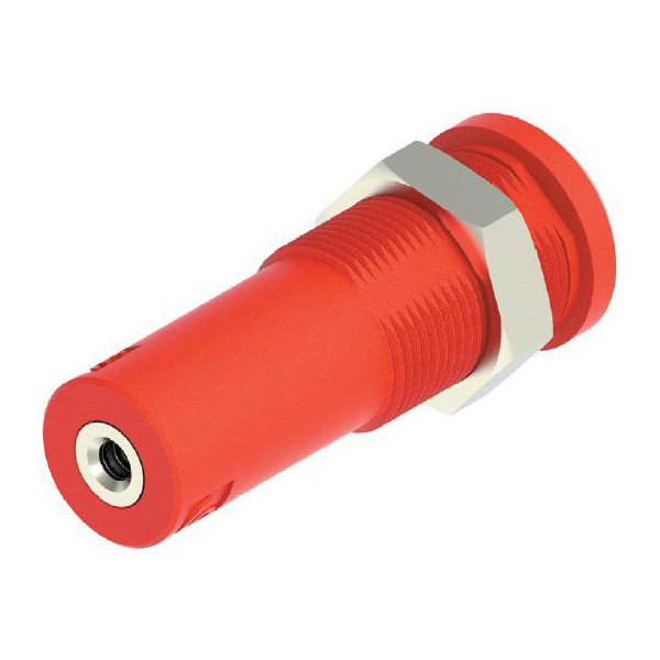 4mm Sheathed Banana Jack - M3 Threaded Hole (Red)