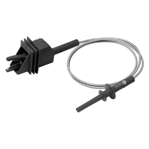 Large Alligator Clip to 4mm Long-Reach Banana Plug Test Lead - 100cm (Black)