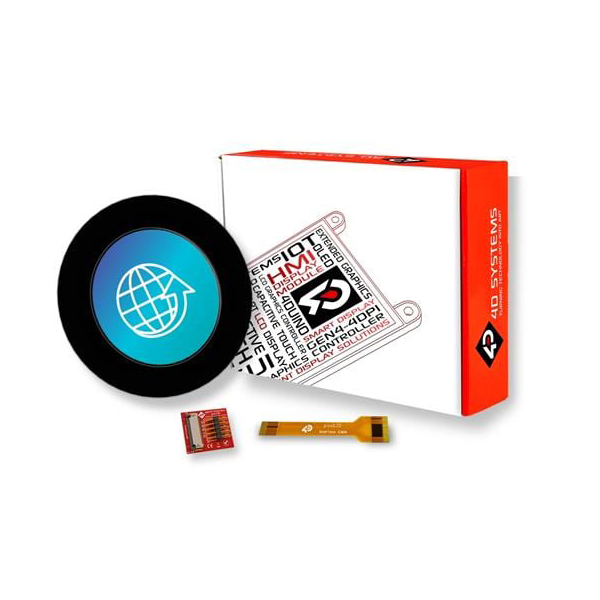 """pixxILCD Smart Display Module - 1.3"""", Round w/ Capacitive Touch"""