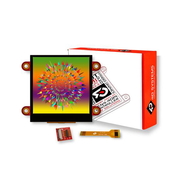 """pixxILCD Smart Display Module - 2.5"""", Capacitive Touch"""