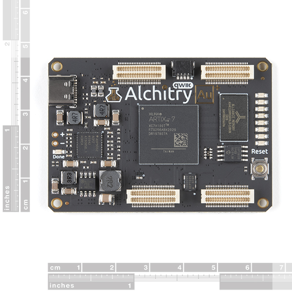 Alchitry Au+ FPGA Development Board (Xilinx Artix 7)