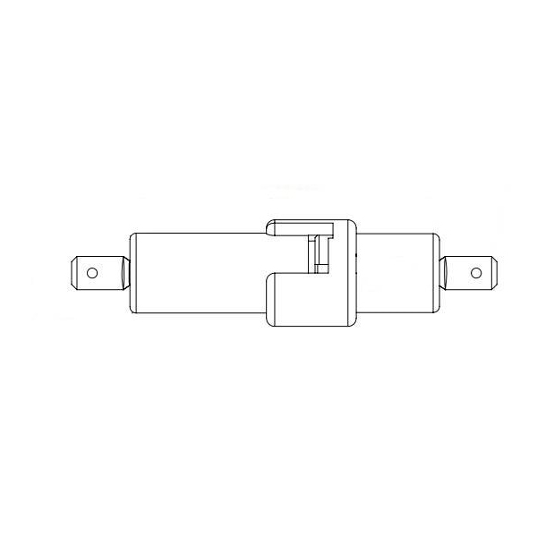 Fuse Holder 600V inline, 1/4 quick connect, 20A rated, for 1/4 x 1-1/4 fuses