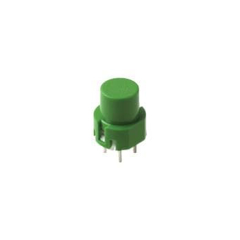 D6 SPST Momentary Key Switch - Green